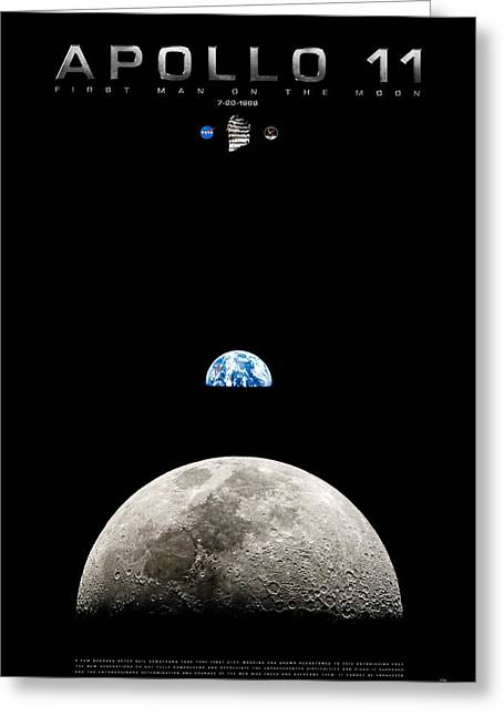 Apollo 11 First Man On The Moon Greeting Card