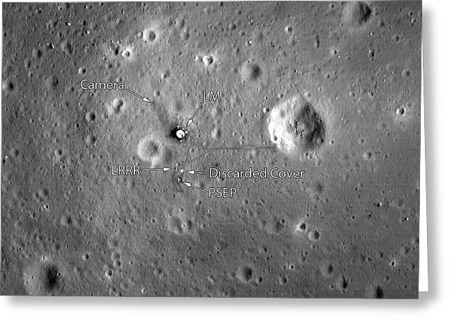 Apollo 11 Landing Site Greeting Card by Nasa/gsfc/arizona State University