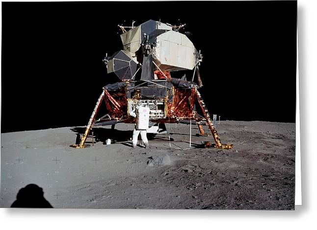 Apollo 11 Lunar Module Greeting Card by Nasa/detlev Van Ravenswaay