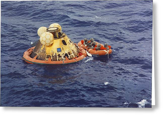 Apollo 11 Splashdown Greeting Card
