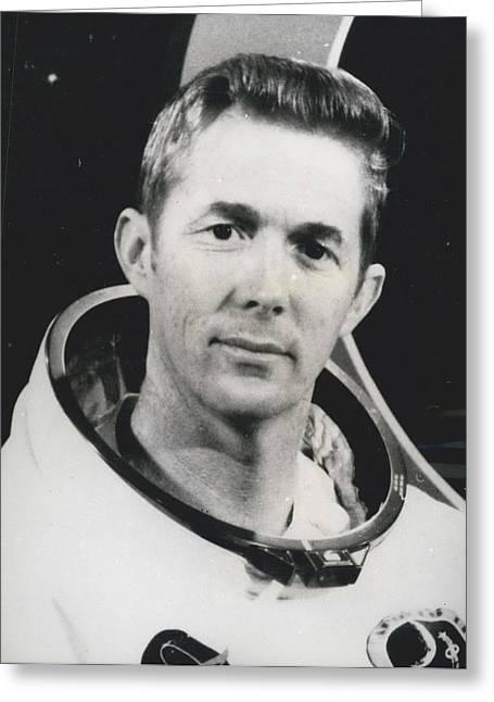 Apollo 14 Astronaut Stuart Roosa - Apollo 14 Command Module Greeting Card by Retro Images Archive