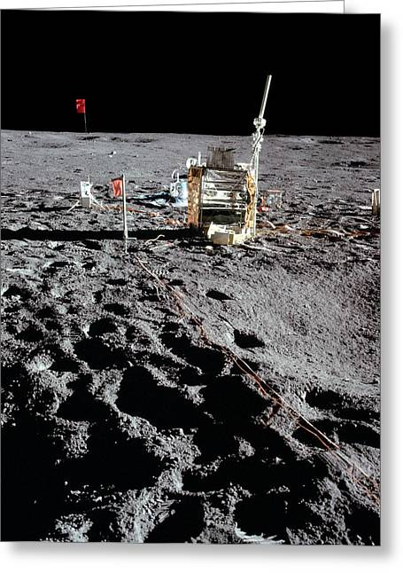 Apollo 14 Photo Of Alsep Greeting Card by Nasa