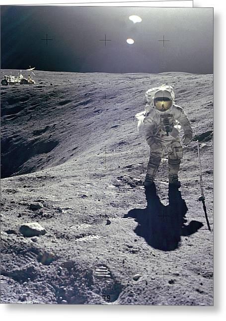 Apollo 16 Greeting Card
