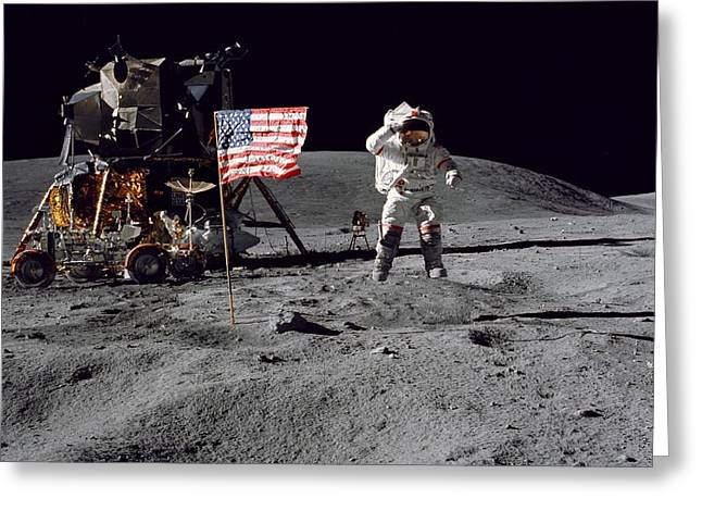 Apollo 16 Greeting Card by Paul Fearn