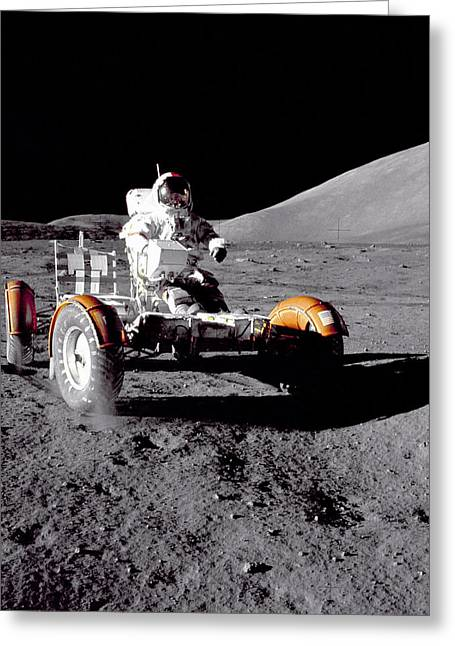 Apollo 17 Moon Rover Ride Greeting Card by Movie Poster Prints