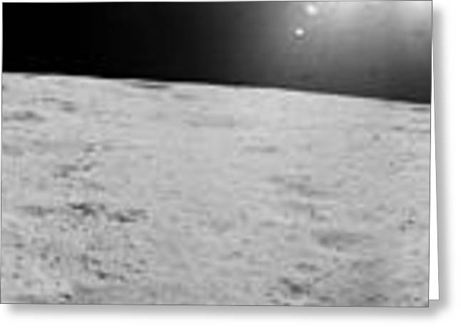 Apollo 17 Station Greeting Card by Celestial Images