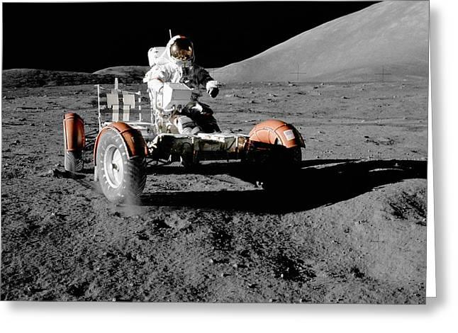 Apollo 17's Lunar Roving Vehicle Greeting Card