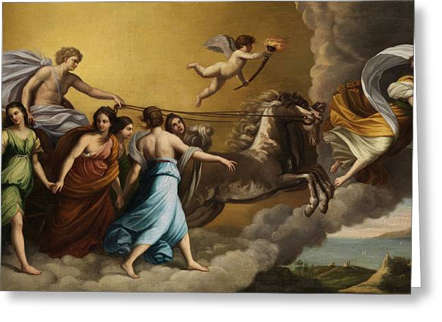 Apollo And The Muses Greeting Card by Italian painter