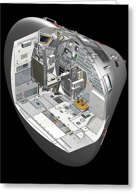 Apollo Command Module Greeting Card by Carlos Clarivan/science Photo Library