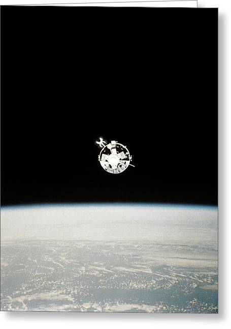Apollo Csm-111 Greeting Card by Nasa/ussr Academy Of Sciences