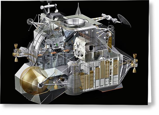 Apollo Lunar Module Ascent Stage Greeting Card by Carlos Clarivan/science Photo Library