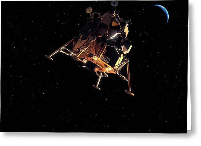 Apollo Lunar Module Greeting Card by Detlev Van Ravenswaay