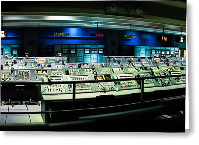 Apollo Mission Control Greeting Card by Alan Marlowe