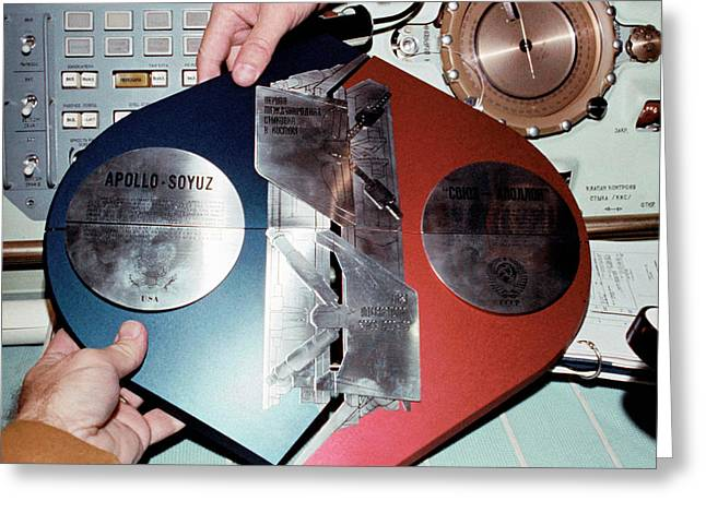 Apollo Soyuz Test Project Commemoration Greeting Card by Nasa