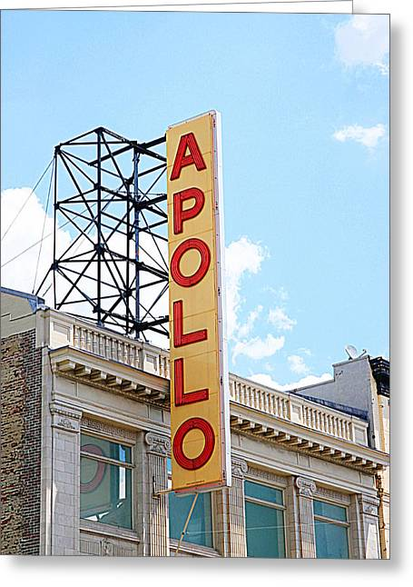 Apollo Theater Sign Greeting Card by Valentino Visentini