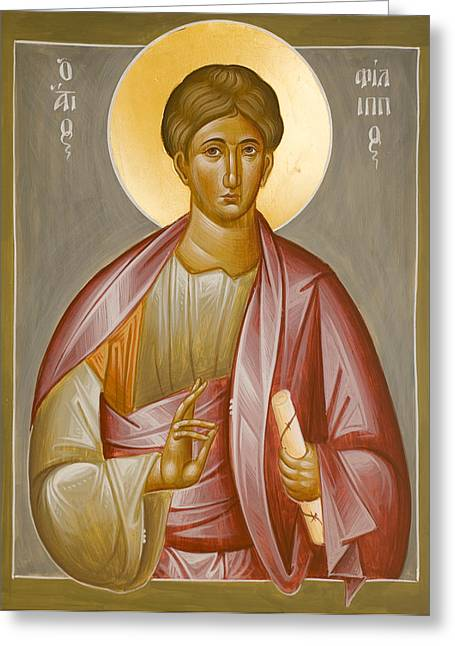 Apostle Philip Greeting Card by Julia Bridget Hayes