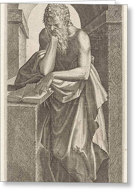 Apostle Simon The Canaanite, Lambertus Suavius Greeting Card