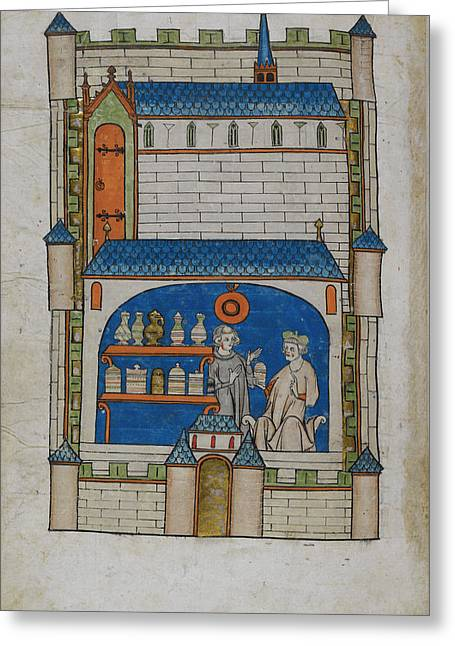 Apothecary Shop Greeting Card by British Library