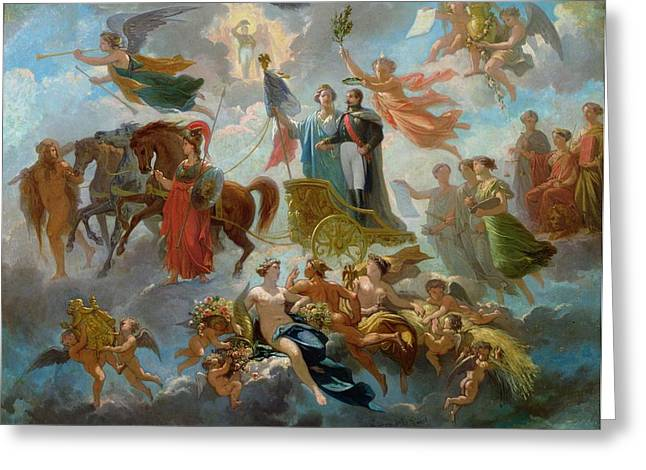 Apotheosis Of Napoleon IIi Greeting Card by Guillaume-Alphonse Harang Cabasson