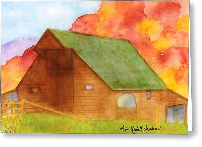 Appalachian Barn In Autumn Greeting Card