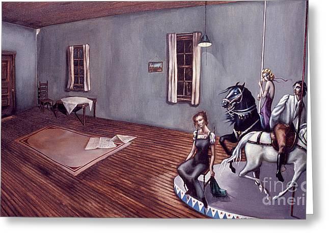 Appalachian Carousel Greeting Card by Jane Whiting Chrzanoska