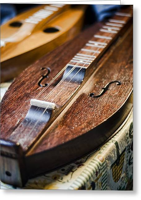 Appalachian Dulcimer Greeting Card by Heather Applegate