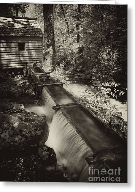 Appalachian Grist Mill And Water Trough Greeting Card by Paul W Faust -  Impressions of Light