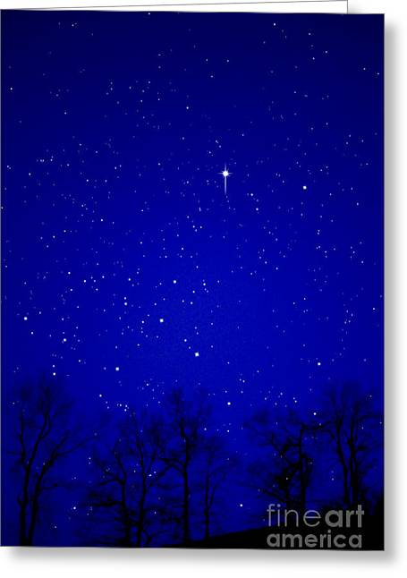 Appalachian Mountain Starry Night Greeting Card by Thomas R Fletcher