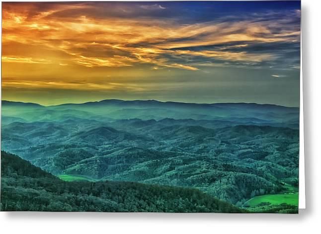 Appalachian Mountain Sunset Greeting Card