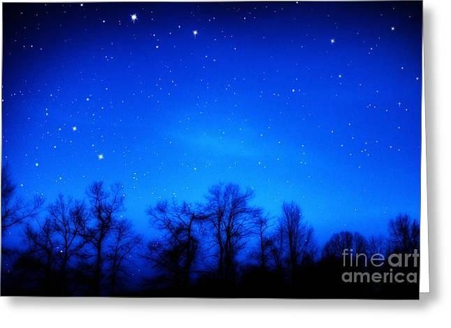 Appalachian Starry Night Greeting Card by Thomas R Fletcher