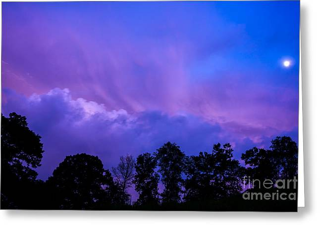Appalachian Sunset And Passing Storm Greeting Card by Thomas R Fletcher