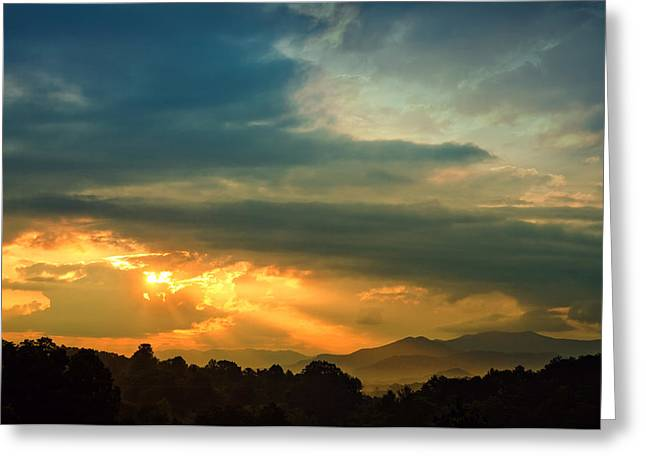 Appalachian Sunset Greeting Card by William Schmid