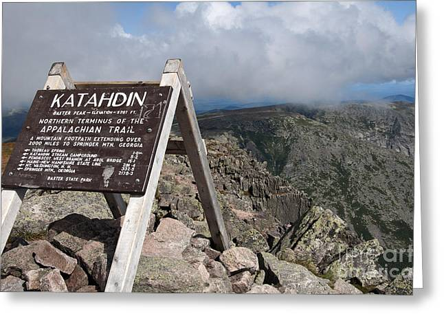 Appalachian Trail Mount Katahdin Greeting Card