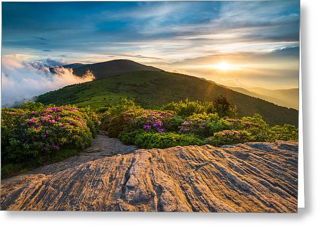 Appalachian Trail Sunset North Carolina Landscape Photography Greeting Card by Dave Allen