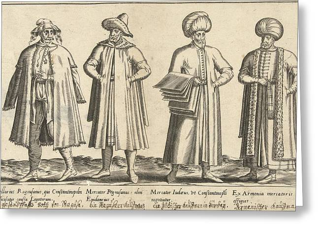 Apparel Merchants In Constantinople Around 1580 Istanbul Greeting Card