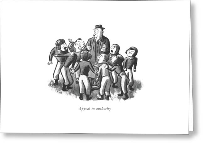 Appeal To Authority Greeting Card