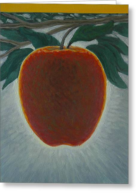 Apple 2 In A Series Of 3 Greeting Card by Don Young