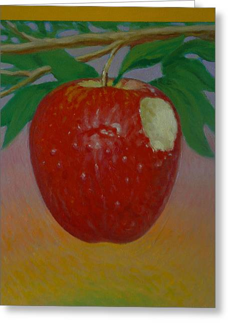 Apple 3 In A Series Of 3 Greeting Card by Don Young
