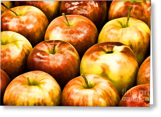 Apple A Day Greeting Card by Linda Blair