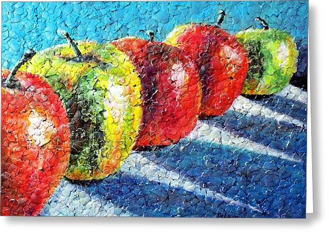 Apple A Day Greeting Card by Susan DeLain