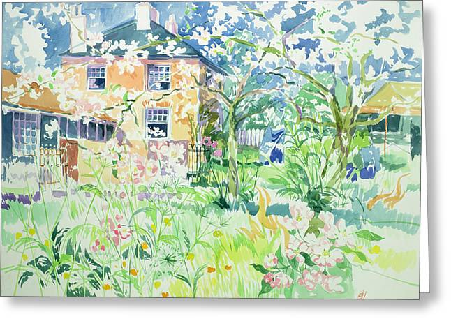 Apple Blossom Farm Greeting Card by Elizabeth Jane Lloyd