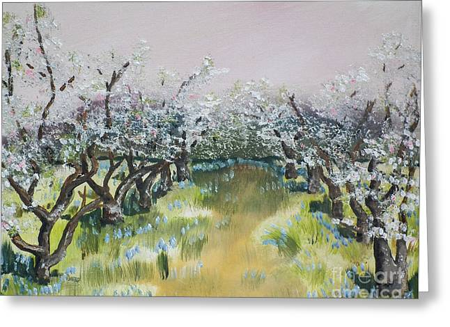 Apple Blossoms In Ellijay -apple Trees - Blooming Greeting Card