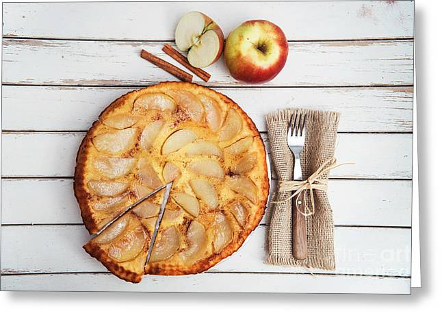 Apple Cake Greeting Card