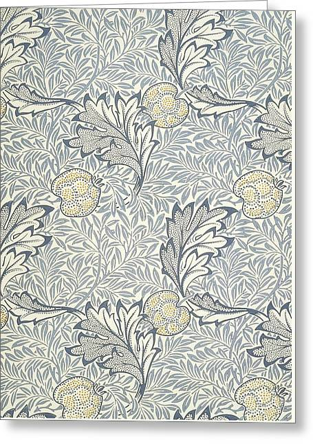 Apple Design 1877 Greeting Card by William Morris