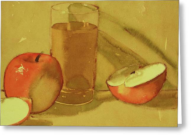 Apple Juice Greeting Card