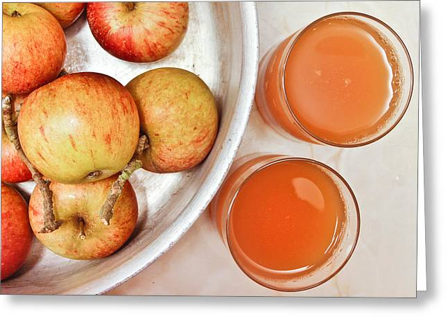 Apple Juice Greeting Card