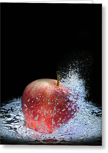 Apple Greeting Card by Krasimir Tolev