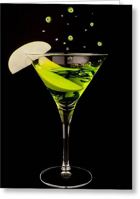 Apple Martini Splash Greeting Card by Richard ONeil