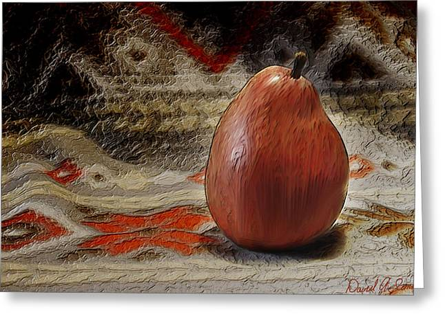 Apple Pear Greeting Card by David Simons