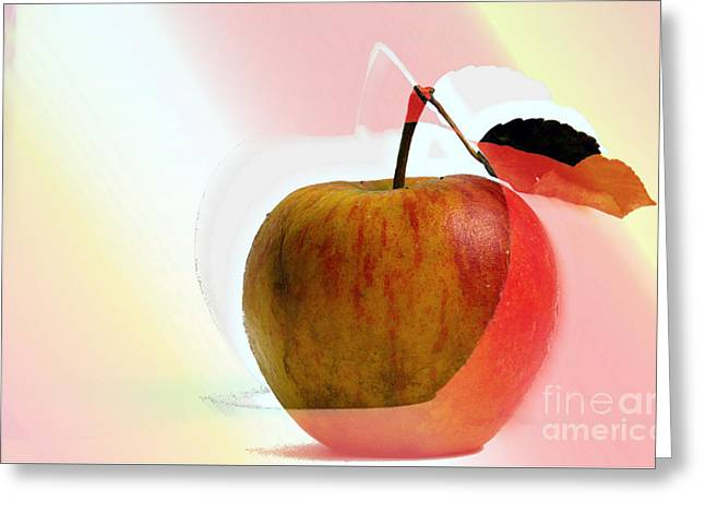 Greeting Card featuring the photograph Apple Peel by Luc Van de Steeg
